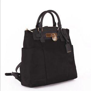Michael kors black Hamilton backpack
